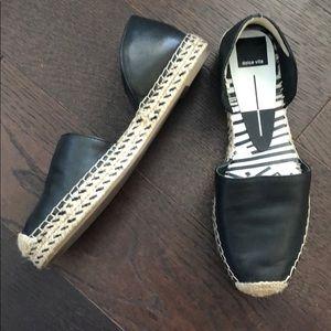 Dolce Vita Black leather espadrilles